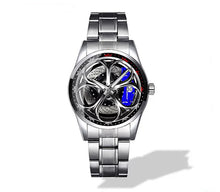 Giulia QV Silver Wheel Blue Caliper Diamond Watch