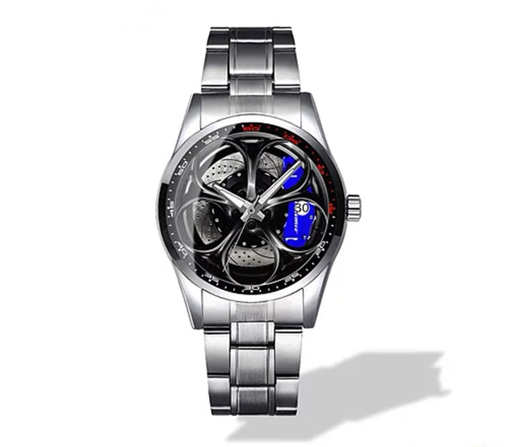 Giulia QV Wheel Blue Caliper Diamond Watch