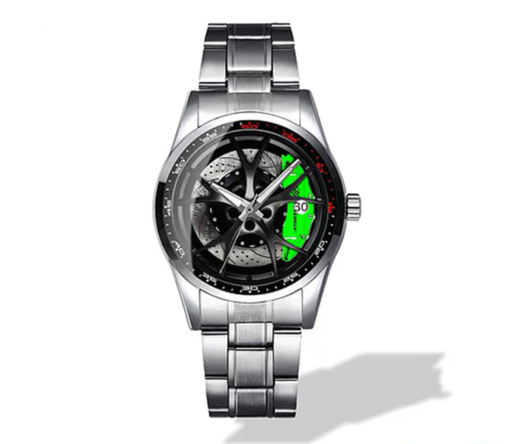 Giulia QV Wheel Green Caliper Diamond Watch