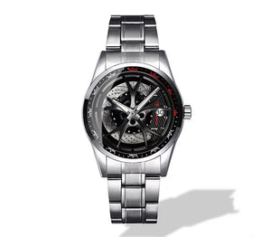 Giulia QV Wheel Black Caliper Diamond Watch