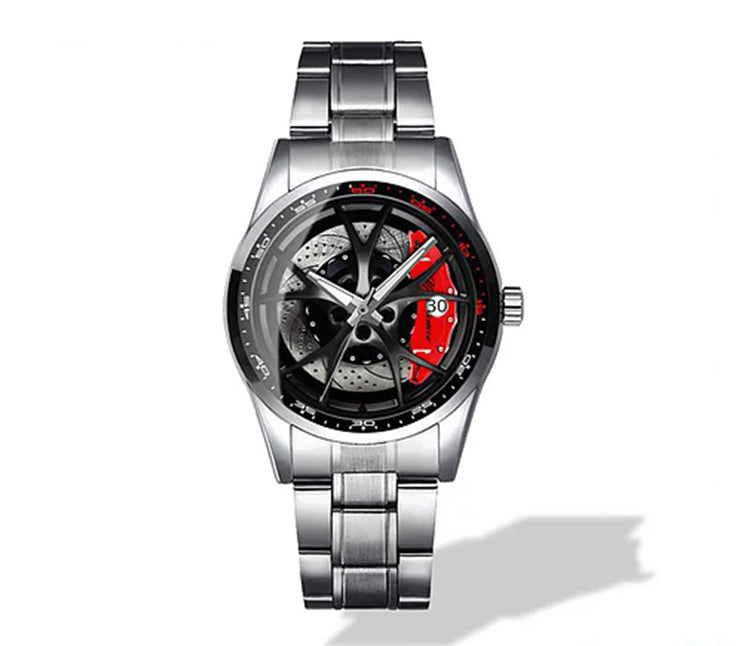 Giulia QV Silver Wheel Red Caliper Diamond Watch