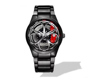Giulia QV Silver Wheel Red Caliper Nero Corse Watch