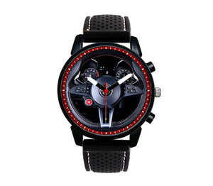 Alfa romeo Giulia QV Steering Wheel Silicone band watch stelvio quadrifoglio wristwatch orologio  red dials