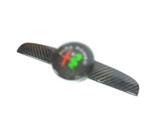 Carbon fiber emblem for the Alfa romeo 159 The Carbon emblem replaces your oem part This part will come with a high UV coated finish