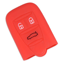 alfa romeo 159 Brera Spider red Silicone Key Cover 3 Buttons