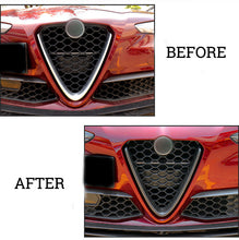 Alfa Romeo Giulia Carbon Fiber Front Grill Grille Scudetto after before