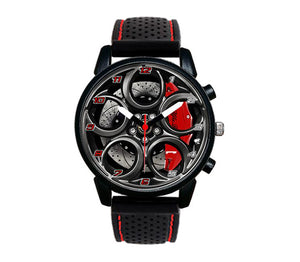 Alfa romeo watch 4C Wheel Green Calipers silicone band stelvio quadrifoglio wristwatch orologio red stitching