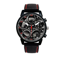 Alfa romeo watch 4C Wheel Carbon Calipers silicone band stelvio quadrifoglio wristwatch orologio red stitching