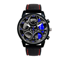 Alfa romeo watch 4C Wheel Blue Calipers silicone band stelvio quadrifoglio wristwatch orologio red stitcing