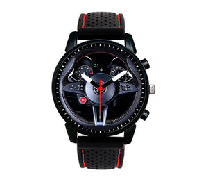 Alfa romeo Giulia QV Steering Wheel Silicone band watch stelvio quadrifoglio wristwatch orologio red stitching