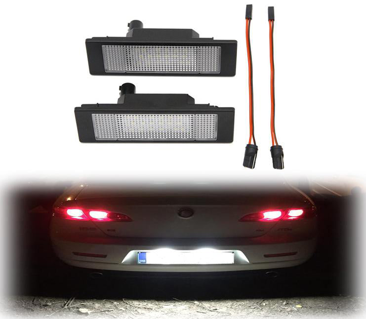 LED License Plate Light Lamp for Alfa Romeo 147 156 159 166 Brera GT Spider with CAN-bus controller no error plug and play 6000k