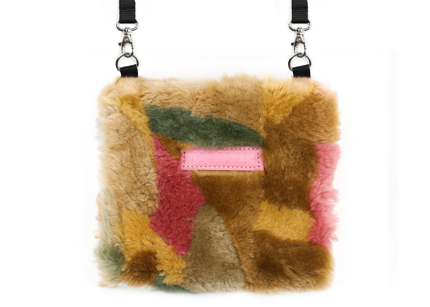 Patchwork Multi Pink Fluffy