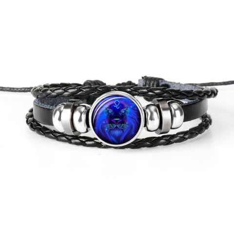 12 Constellation Zodiac Braided Leather Bracelets