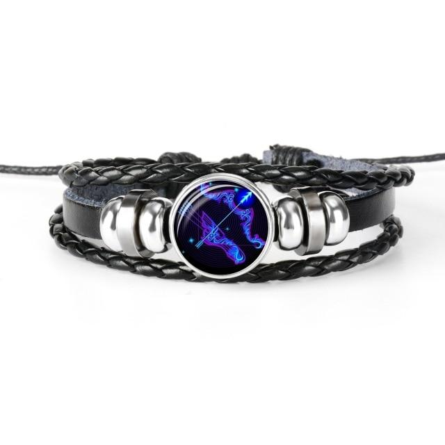 12 Constellation Zodiac Braided Leather Bracelets - LifeSpirit | Sidi Life Products - Accessories - #collection_type#