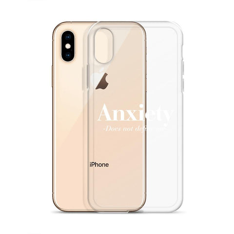 Image of Anxiety Does Not Define Me iPhone X case - LifeSpirit | Sidi Life Products - Accessories - #collection_type#
