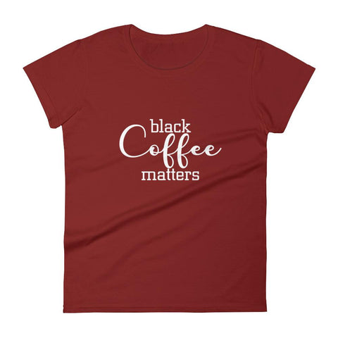 Black Coffee Matters, Script - LifeSpirit | Sidi Life Products - T- Shirts - #collection_type#