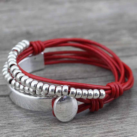 Bohemian Leather Wrist Wrap