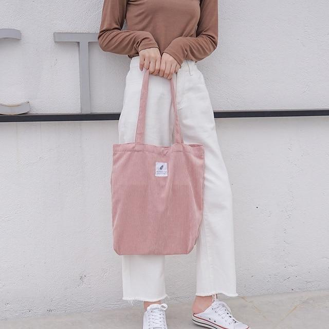 Eco-Friendly Corduroy Totes - LifeSpirit | Sidi Life Products - Accessories - #collection_type#