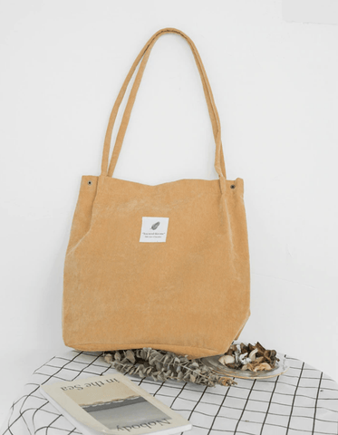 Eco-Friendly Corduroy Totes