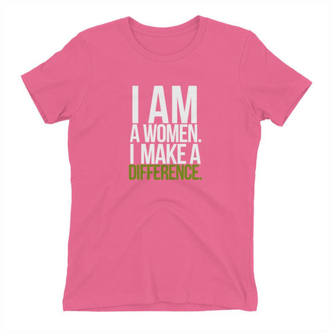 Image of I Am A Women. I Make A Difference - LifeSpirit | Sidi Life Products - T- Shirts - #collection_type#