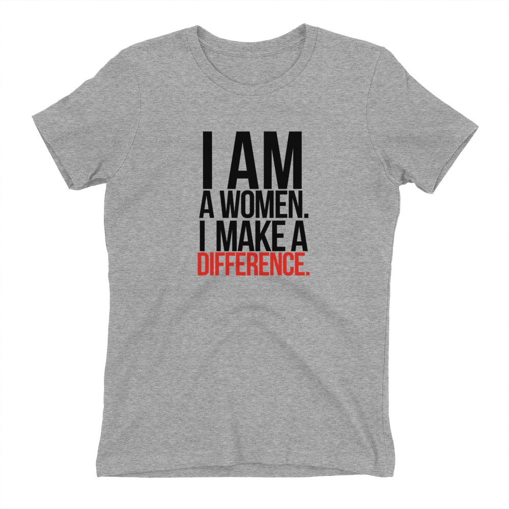 I Am A Women. I Make A Difference - LifeSpirit | Sidi Life Products - T- Shirts - #collection_type#