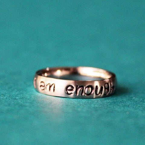 I Am Enough Awareness Ring