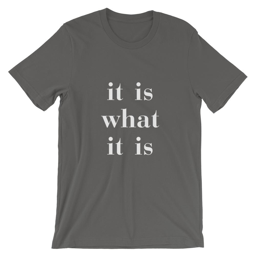 It Is What It Is - LifeSpirit | Sidi Life Products - T- Shirts - #collection_type#