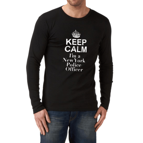 Image of Keep Calm I'm A New York Police Officer - LifeSpirit | Sidi Life Products - T- Shirts - #collection_type#