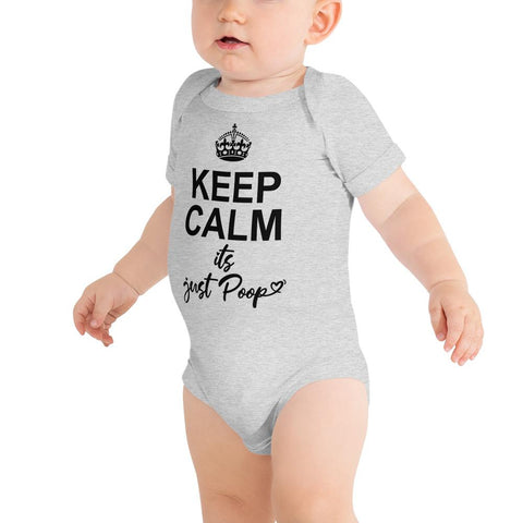 Keep Calm It's Just Poop Infant Body-suit - LifeSpirit | Sidi Life Products - Baby & Toddlers - #collection_type#