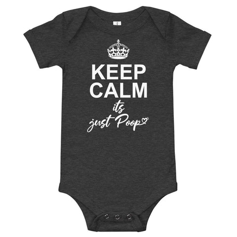 Image of Keep Calm It's Just Poop Infant Body-suit - LifeSpirit | Sidi Life Products - Baby & Toddlers - #collection_type#