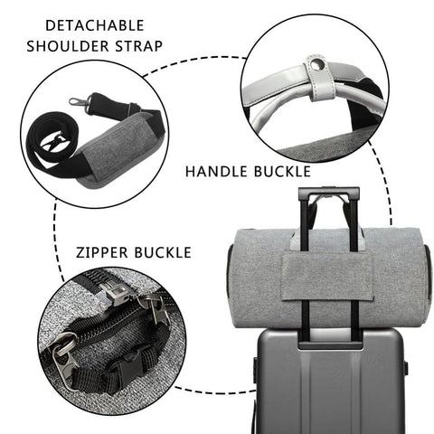 Image of Modoker Garment Travel Bag with Shoulder Strap Duffel Bag Carry on Hanging Suitcase Clothing Business Bag Multiple Pockets - LifeSpirit | Sidi Life Products - - #collection_type#