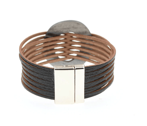 Matrix Multilayer Leather Wrap Bracelets & Bangles