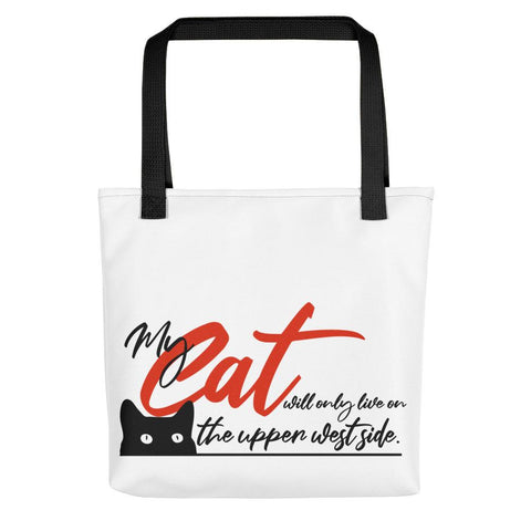 Image of My Cat Will Only Live on the Upper West Side Tote - LifeSpirit | Sidi Life Products - Accessories - #collection_type#