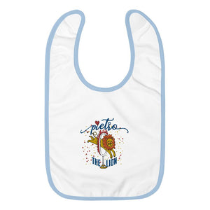 Pietro the Little Lion Embroidered Baby Bib (special edition) - LifeSpirit | Sidi Life Products - Baby & Toddlers - #collection_type#