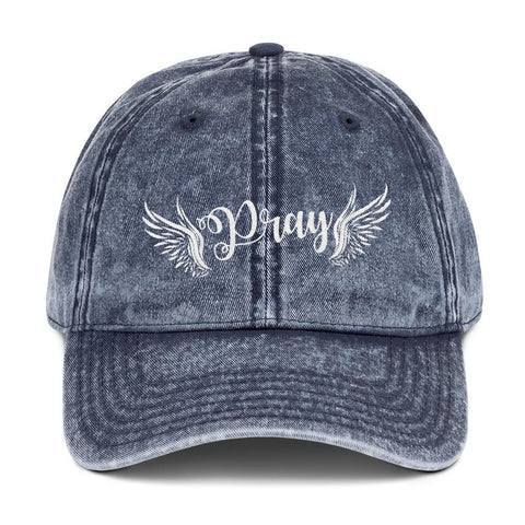 Pray with Wings Vintage Cap - LifeSpirit | Sidi Life Products - Hats & Caps - #collection_type#