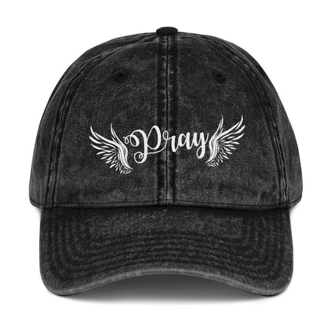 Pray with Wings Vintage Cap