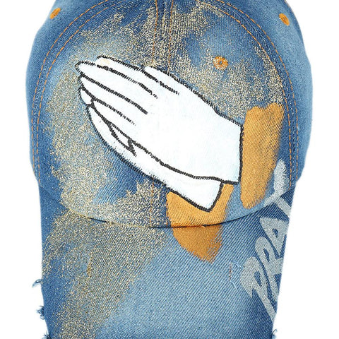 Praying Hands Painted Cap - LifeSpirit | Sidi Life Products - Hats & Caps - #collection_type#