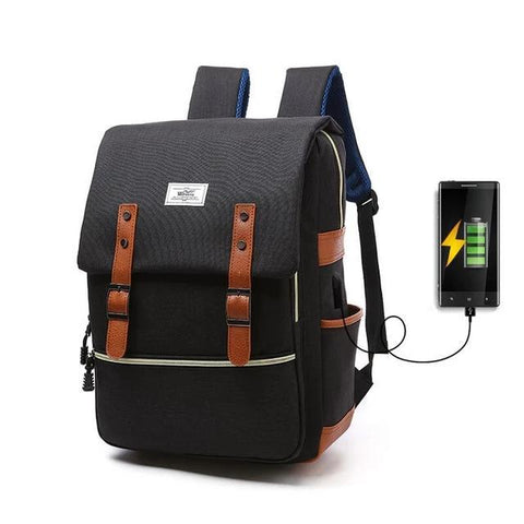 Image of Retro Canvas Backpack Unisex - LifeSpirit | Sidi Life Products - Accessories - #collection_type#