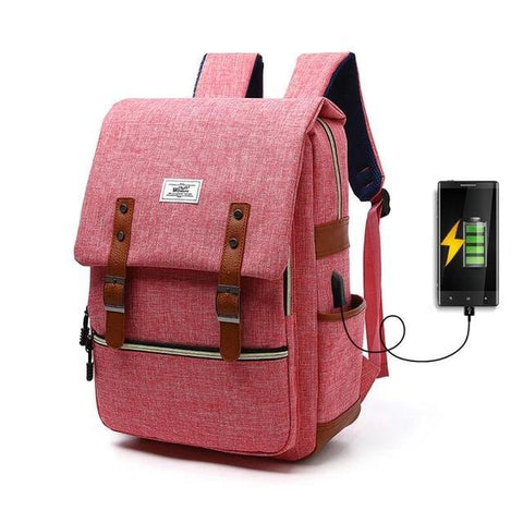 Retro Canvas Backpack Unisex - LifeSpirit | Sidi Life Products - Accessories - #collection_type#