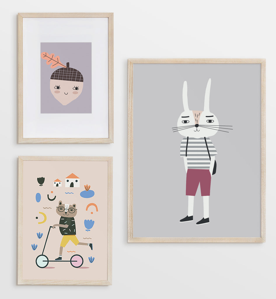 Set of 3 Prints: Let's Go Outside!