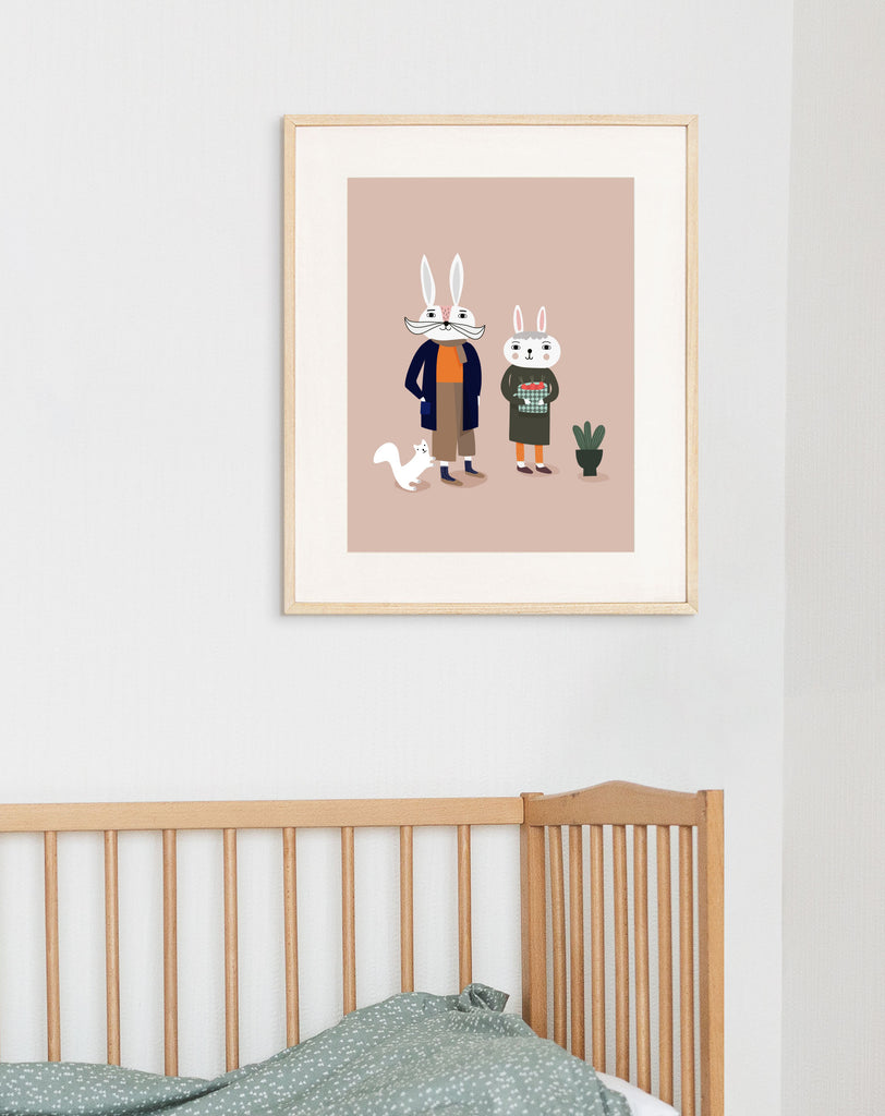 Otja's Grandparents Art Print