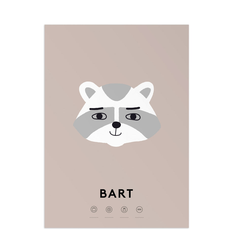 Custom Raccoon Art Print