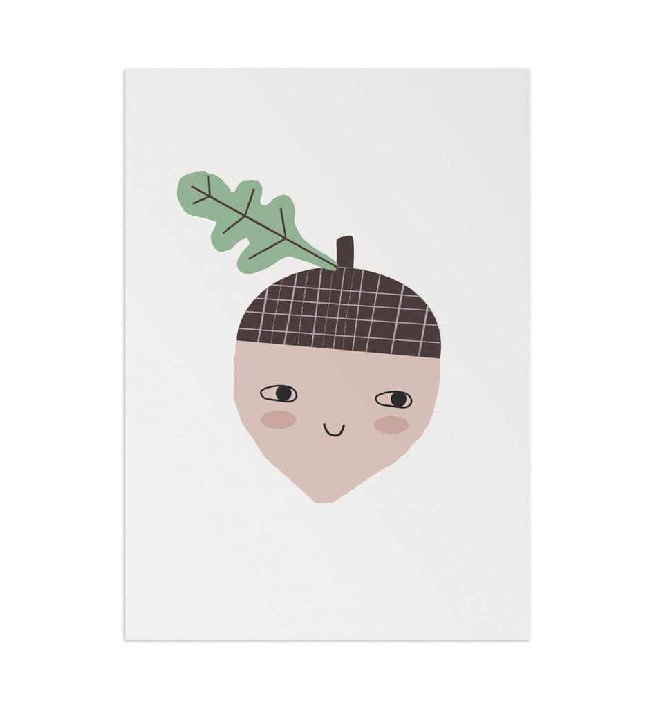 Happy Acorn Art Print