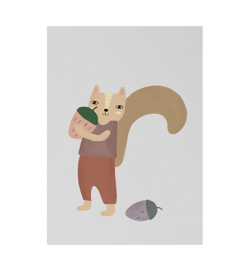 Lotta the Squirrel Art Print