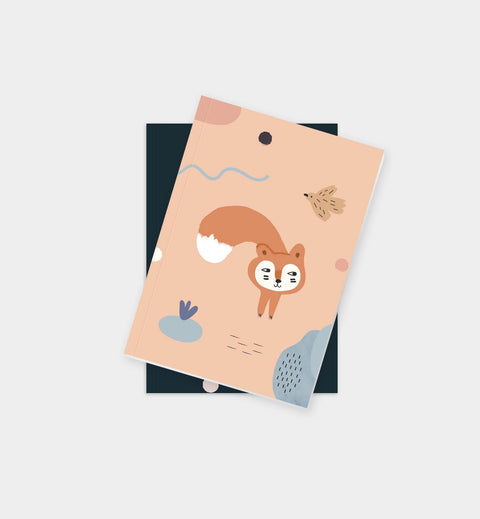 Baby Fox and Bird Notebook
