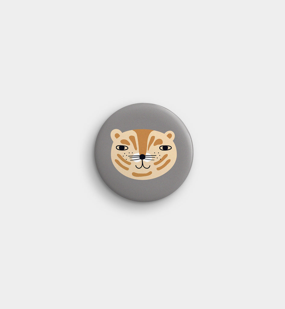 Grey Tiger Pocket Mirror