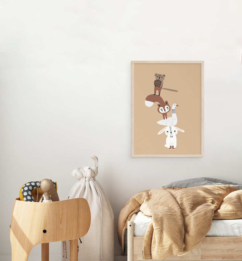 Animal Tower Art Print