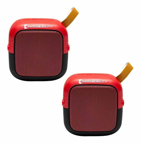 Kit 2 Bocinas Swissmobility Bluetooth Mini, Audio En Estereo MINI-SW5