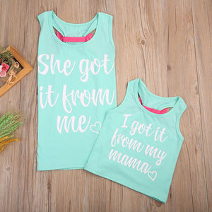 "Mother Daughter ""I Got I From My Momma"" Bow Tie Tank"
