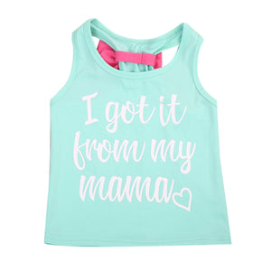 "Mother Daughter ""I Got it From My Momma"" Bow Tie Tank"